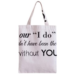 Wedding Favor/thank You Zipper Classic Tote Bag by LittileThingsInLife