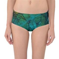 Weathered Mid Waist Bikini Bottoms by SugaPlumsEmporium