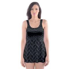 BRK2 BK-BL MARBLE Skater Dress Swimsuit by trendistuff