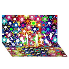 Star Of David Sorry 3d Greeting Card (8x4)  by SugaPlumsEmporium