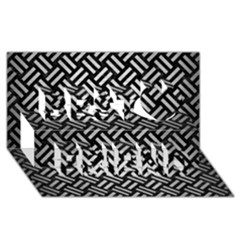 Woven2 Black Marble & Silver Brushed Metal Best Friends 3d Greeting Card (8x4) by trendistuff