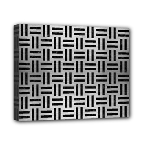 Woven1 Black Marble & Silver Brushed Metal (r) Canvas 10  X 8  (stretched) by trendistuff