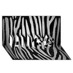 Skin4 Black Marble & Silver Brushed Metal (r) Hugs 3d Greeting Card (8x4) by trendistuff