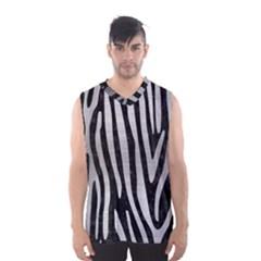 Skin4 Black Marble & Silver Brushed Metal (r) Men s Basketball Tank Top by trendistuff