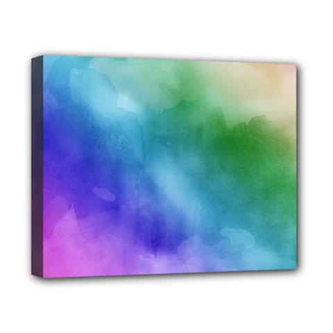 Rainbow Watercolor Canvas 10  X 8  by StuffOrSomething