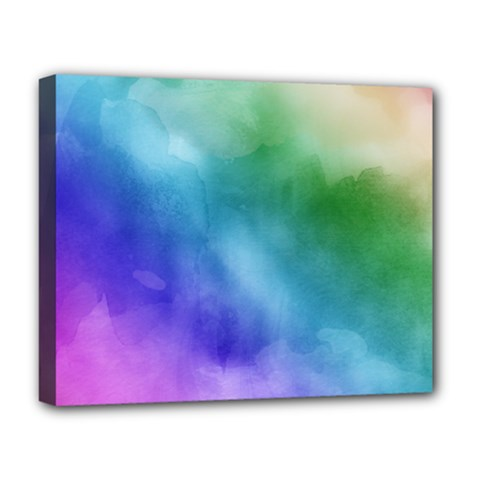Rainbow Watercolor Deluxe Canvas 20  X 16   by StuffOrSomething