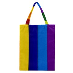 Rainbow Painting On Wood Classic Tote Bag by StuffOrSomething