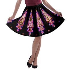 Stained Glass Window A-line Skater Skirt by SimplySherlock