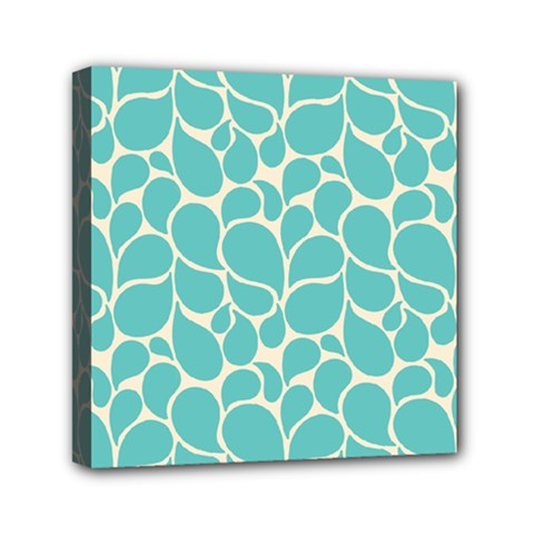 Blue Abstract Water Drops Pattern Mini Canvas 6  x 6  by TastefulDesigns