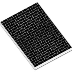 Brick1 Black Marble & Silver Brushed Metal Large Memo Pads by trendistuff