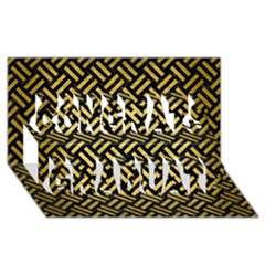 Woven2 Black Marble & Gold Brushed Metal Congrats Graduate 3d Greeting Card (8x4) by trendistuff