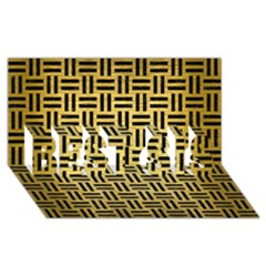 Woven1 Black Marble & Gold Brushed Metal (r) Best Sis 3d Greeting Card (8x4) by trendistuff