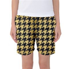 HTH1 BK MARBLE GOLD Women s Basketball Shorts by trendistuff