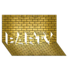 Brick1 Black Marble & Gold Brushed Metal (r) Party 3d Greeting Card (8x4) by trendistuff