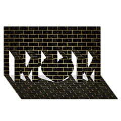 Brick1 Black Marble & Gold Brushed Metal Mom 3d Greeting Card (8x4) by trendistuff