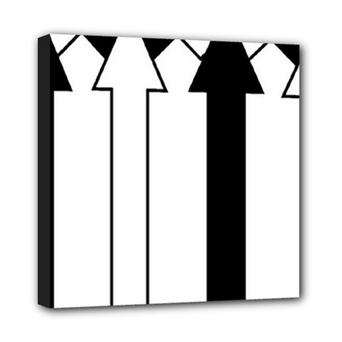 Funny Black And White Stripes Diamonds Arrows Mini Canvas 8  X 8  by yoursparklingshop