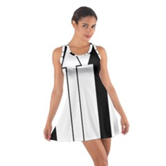 Funny Black And White Stripes Diamonds Arrows Racerback Dresses