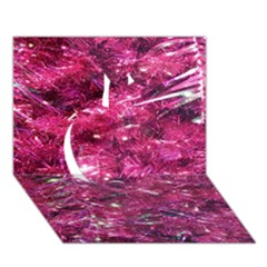 Festive Hot Pink Glitter Merry Christmas Tree  Apple 3d Greeting Card (7x5)  by yoursparklingshop