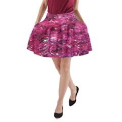 Festive Hot Pink Glitter Merry Christmas Tree  A Line Pocket Skirt by yoursparklingshop