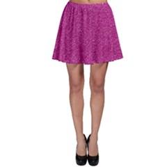 Metallic Pink Glitter Texture Skater Skirt by yoursparklingshop