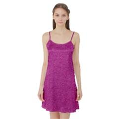 Metallic Pink Glitter Texture Satin Night Slip by yoursparklingshop