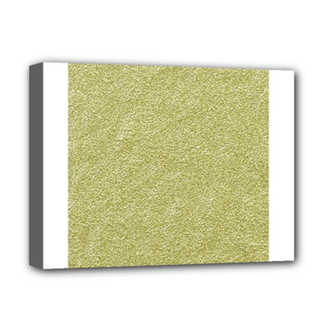 Festive White Gold Glitter Texture Deluxe Canvas 16  X 12   by yoursparklingshop