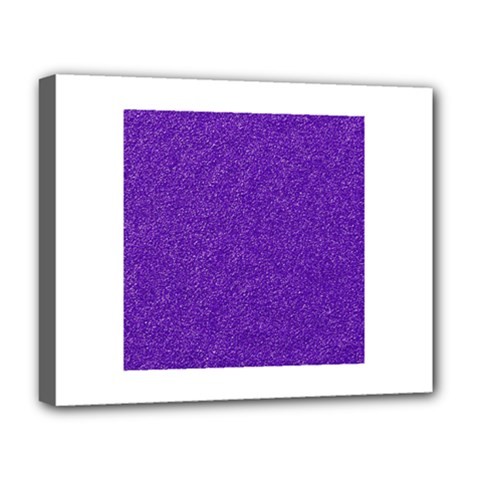 Festive Purple Glitter Texture Deluxe Canvas 20  X 16   by yoursparklingshop