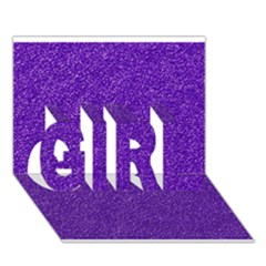 Festive Purple Glitter Texture Girl 3d Greeting Card (7x5)  by yoursparklingshop