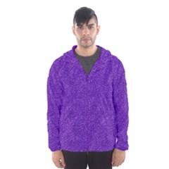 Festive Purple Glitter Texture Hooded Wind Breaker (men) by yoursparklingshop