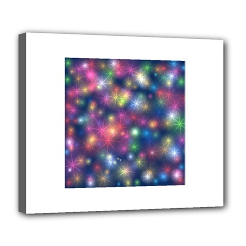 Starlight Shiny Glitter Stars Deluxe Canvas 24  X 20   by yoursparklingshop
