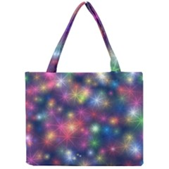 Starlight Shiny Glitter Stars Mini Tote Bag by yoursparklingshop