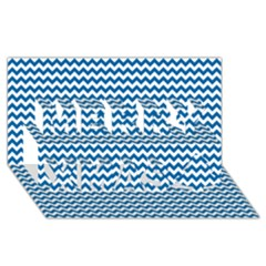 Dark Blue White Chevron  Merry Xmas 3d Greeting Card (8x4)  by yoursparklingshop
