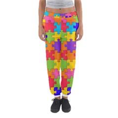 Funny Colorful Puzzle Pieces Women s Jogger Sweatpants by yoursparklingshop
