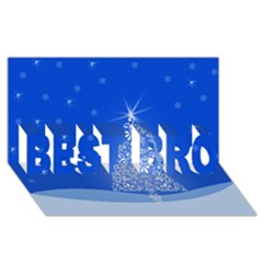 Blue White Christmas Tree Best Bro 3d Greeting Card (8x4)  by yoursparklingshop