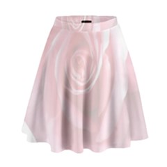 Pink White Love Rose High Waist Skirt by yoursparklingshop