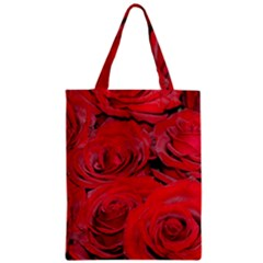 Red Love Roses Zipper Classic Tote Bag by yoursparklingshop