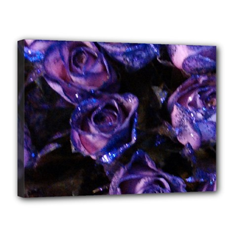 Purple Glitter Roses Valentine Love Canvas 16  X 12  by yoursparklingshop