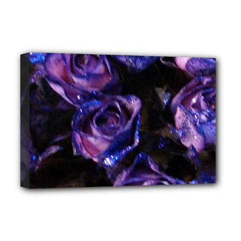 Purple Glitter Roses Valentine Love Deluxe Canvas 18  X 12   by yoursparklingshop