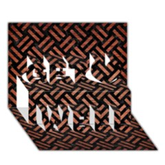 Woven2 Black Marble & Copper Brushed Metal Get Well 3d Greeting Card (7x5) by trendistuff