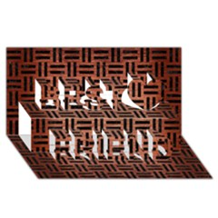 Woven1 Black Marble & Copper Brushed Metal (r) Best Friends 3d Greeting Card (8x4) by trendistuff