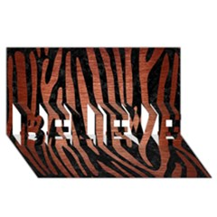 SKN4 BK MARBLE COPPER (R) BELIEVE 3D Greeting Card (8x4)  by trendistuff