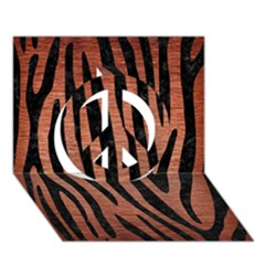 Skin4 Black Marble & Copper Brushed Metal Peace Sign 3d Greeting Card (7x5) by trendistuff