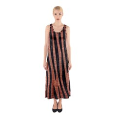 Skin4 Black Marble & Copper Brushed Metal Sleeveless Maxi Dress by trendistuff