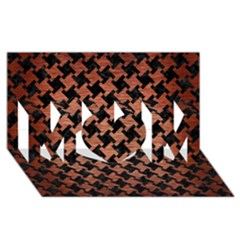 Houndstooth2 Black Marble & Copper Brushed Metal Mom 3d Greeting Card (8x4) by trendistuff
