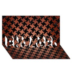 Houndstooth2 Black Marble & Copper Brushed Metal Engaged 3d Greeting Card (8x4) by trendistuff