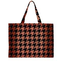 HTH1 BK MARBLE COPPER Large Tote Bag