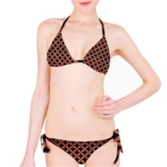 Circles3 Black Marble & Copper Brushed Metal Bikini Set by trendistuff