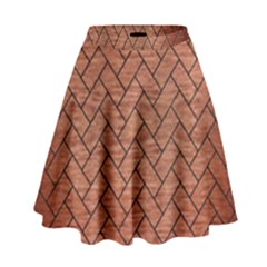 BRK2 BK MARBLE COPPER (R) High Waist Skirt by trendistuff