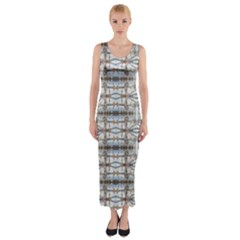 Geometric Diamonds Fitted Maxi Dress by yoursparklingshop