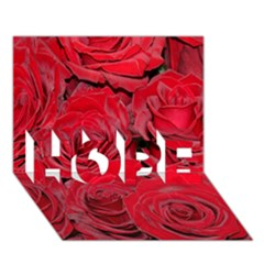 Red Roses Love HOPE 3D Greeting Card (7x5)  by yoursparklingshop